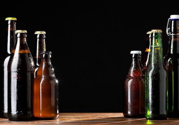 Vorderansicht leckeres amerikanisches biersortiment