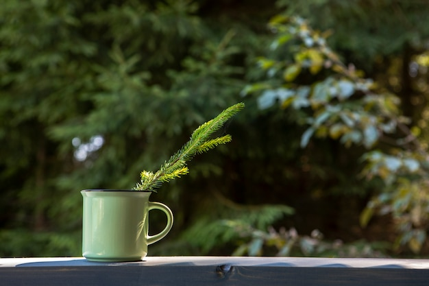 Vorderansicht tasse kaffee exemplarplatz
