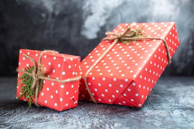 Vorderansicht weihnachtsgeschenke