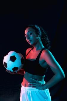 Vorderansichtfrau in der sportkleidung