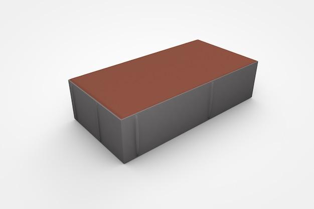Vorgefertigte betonpflastersteine auf weißem hintergrund 3d-darstellung