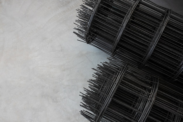 Vorgefertigter stahl zum gießen von stahlbetonböden hintergrund