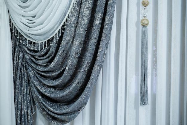 Vorhänge für fenster, tüll für eine wohnung, ein stoffladen fabric