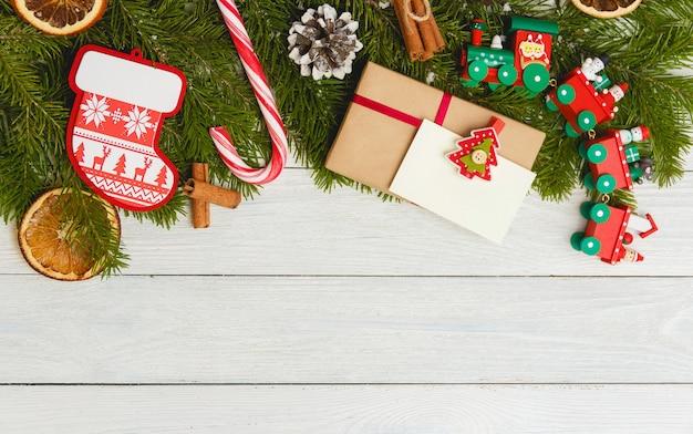Vorlage für neujahr platz für text. mockup für werbung, glückwunsch
