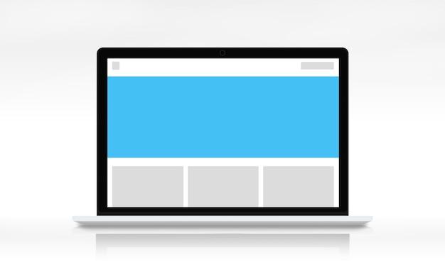 Vorlagen-abzeichen-layout-mock-up-visuelles leeres konzept