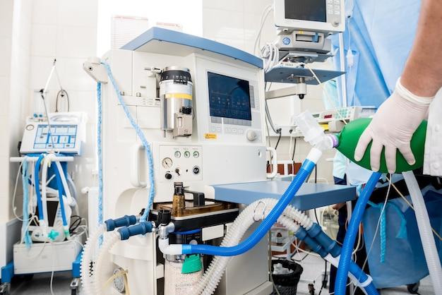 Voroxygenierung zur vollnarkose im operationssaal