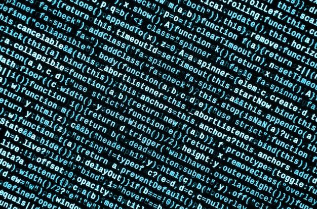 Vorschau des computerprogramms. code-eingabe programmieren