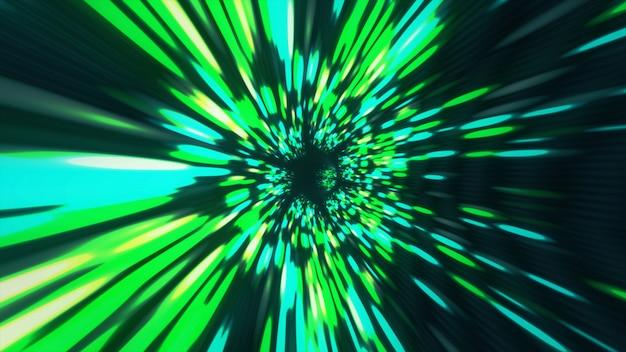 Vortex hyperraum tunnel wurmloch zeit und raum, warp science fiction hintergrund 3d