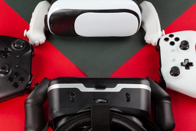 Vr headset auf farbtabelle