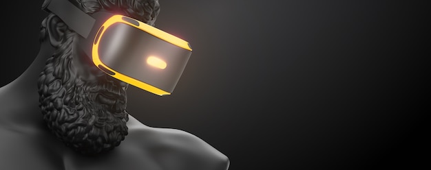 Vr-headset virtual-reality-brille 3d-rendering