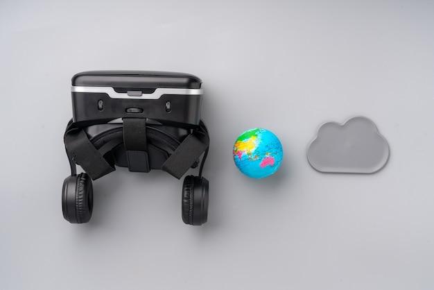 Vr-virtual-reality-technologie für spiele in der tischansicht