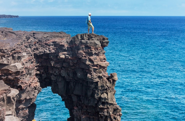 Vulkanbogen auf big island, hawaii