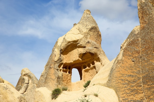 Vulkangesteine im kappadokien-tal, türkei