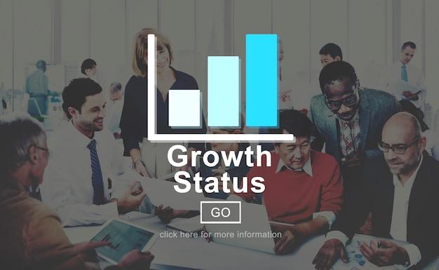 Wachstum status technologie online-website-konzept