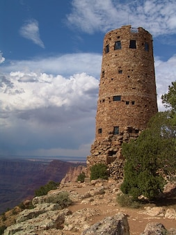 Wachturm grandiosen blick wüste arizona