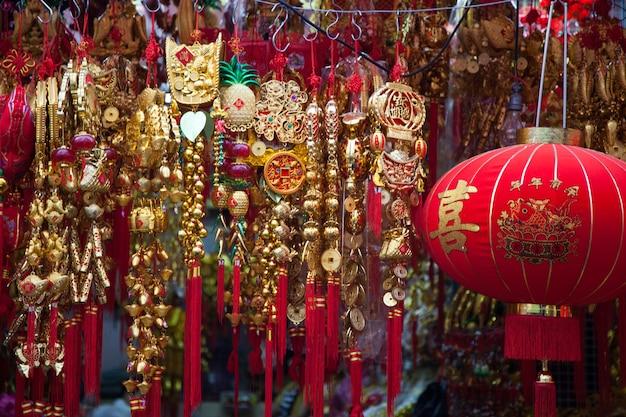 Während der chinesischen neujahrsdekoration.