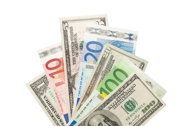 Währung isoliert reichtum nahaufnahme nahaufnahme dollarnoten dollar