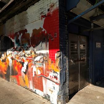 Wände in manhattan, new york city, usa