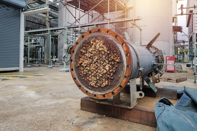 Wärmetauschermantel und -rohr in der petrochemischen industrie blockiert