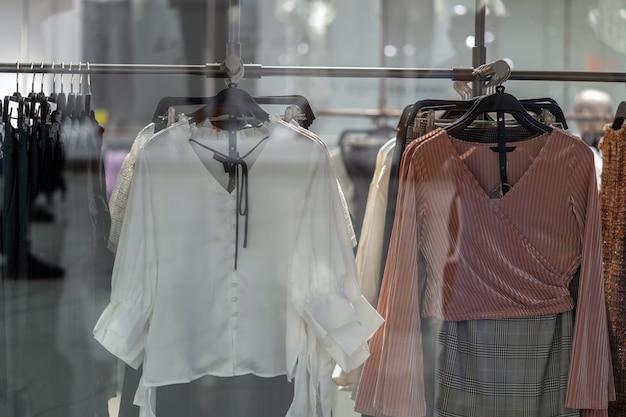 Wäscheleine im glasshop am einkaufskaufhaus für den einkauf