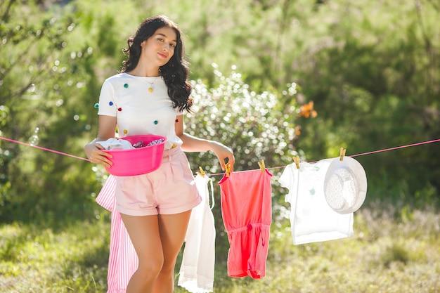 Wäscherei der hausfrau