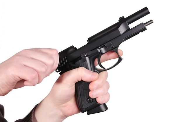 Waffe in der hand