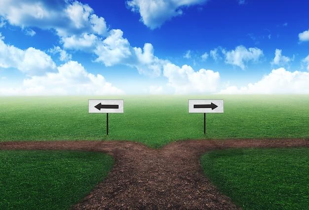 Wahl des richtigen weges