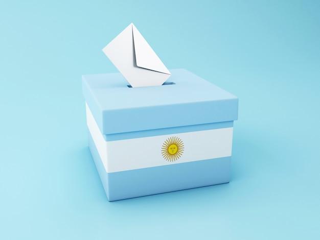 Wahlurne 3d, argentinien-wahlen 2019