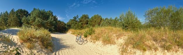 Waldschutzstrände der ostsee, mit dem fahrrad
