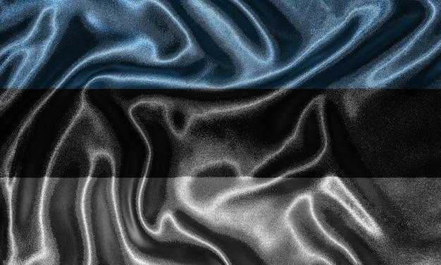 Wallpaper von estland flagge und flagge von stoff winken.