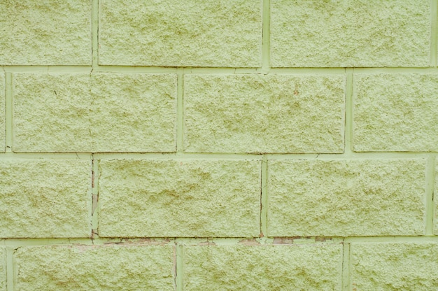 Wand aus grünen betonblöcken