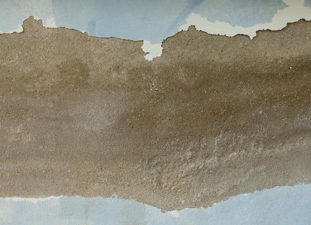 Wand der blauen wand mit textplatz.