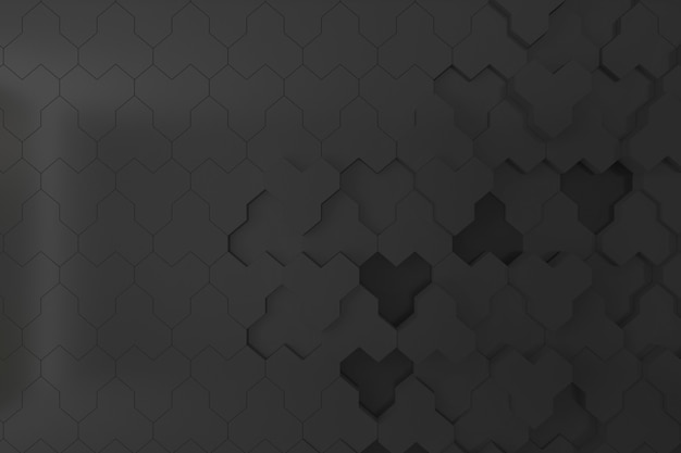 Wand der schwarzen bienenstock-form 3d für hintergrund, hintergrund oder tapete
