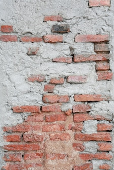 Wand des roten backsteins der weinlese hergestellt vom ziegelstein und vom mörser.