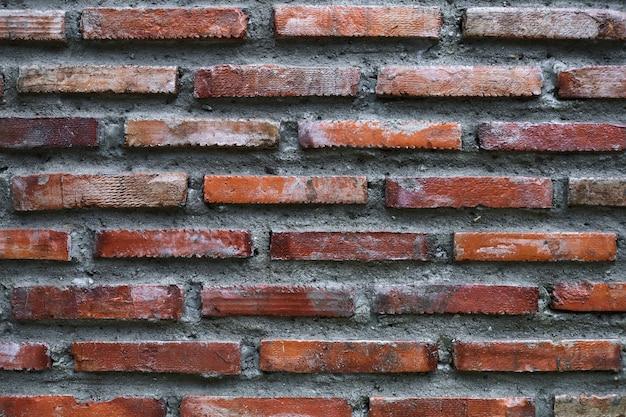 Wand des ziegelstein- und zementhintergrundes