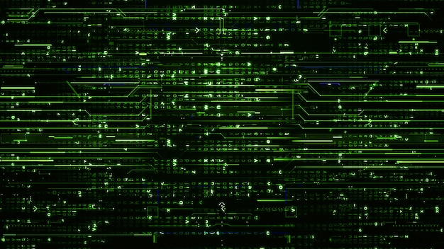 Wand digitale grüne hi-tech-wände