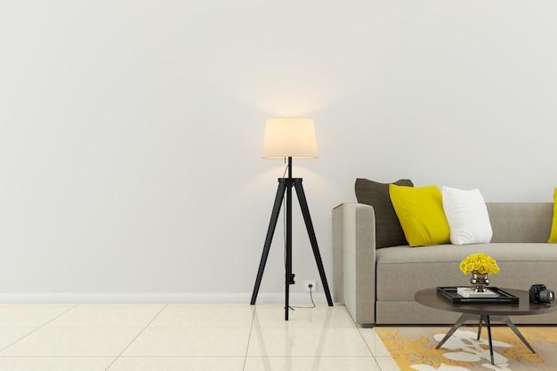 Wand marmorboden interieur sofa stuhl lampe interieur 3d wohnzimmer