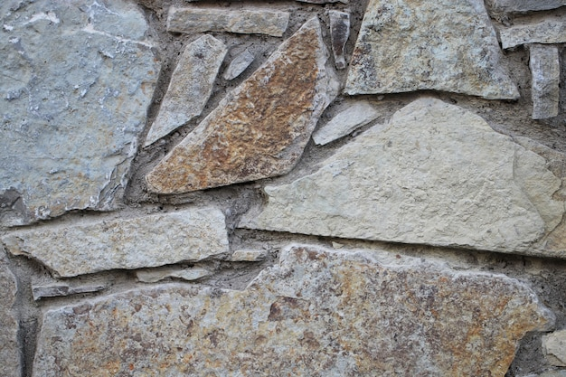 Wand mit altem mauerwerk an einem klaren tag