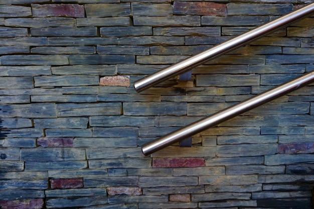 Wand mit zaun auf der straße texturiert