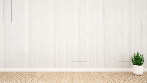 Wanddekoration im leeren raum für grafik