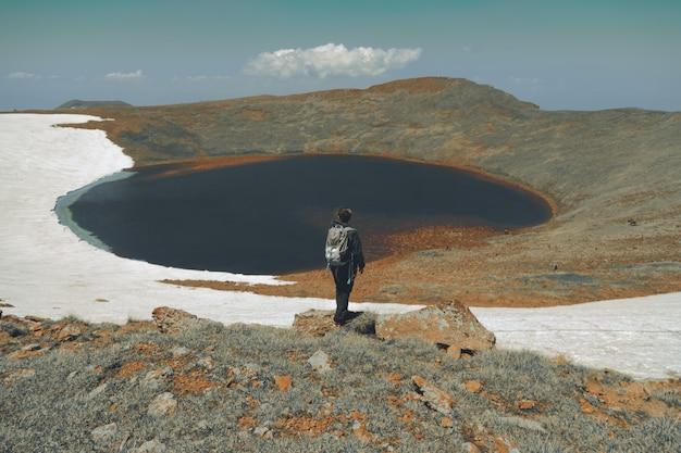 Wanderer auf bergen