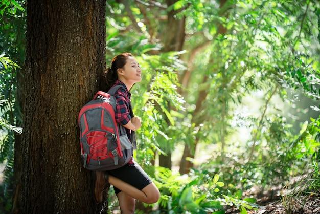 Wanderer sonne natur aktiv wandern