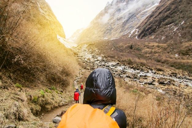 Wanderer wandern menschen sport im freien