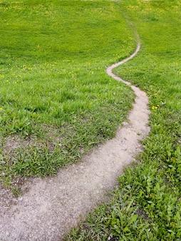 Wanderweg auf dem hügel