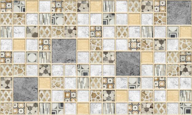 Wandfliesen mit marmormuster. steinmosaik. hintergrundtextur