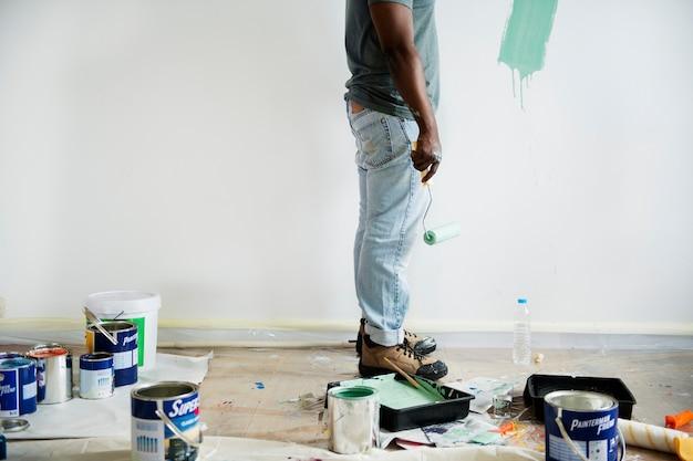 Wandmalerei des schwarzen mannes malerei