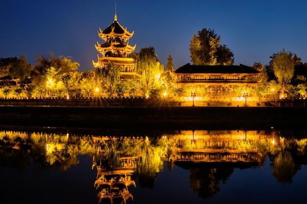 Wangjiang pavillon im wangjianglou park. chengdu, sichuan, china