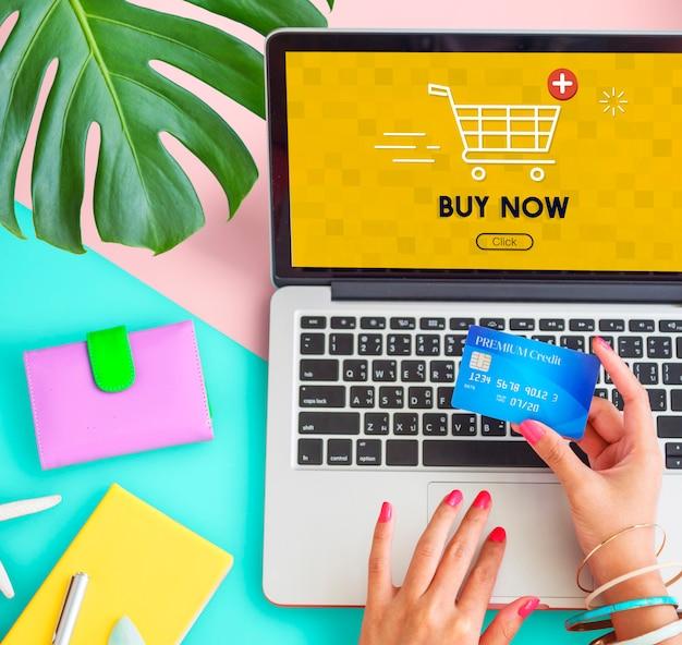 Warenkorb hinzufügen jetzt kaufen online-commerce-grafikkonzept