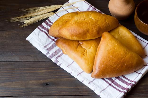 Warme kuchen, butterkuchen, traditionelles russisches essen
