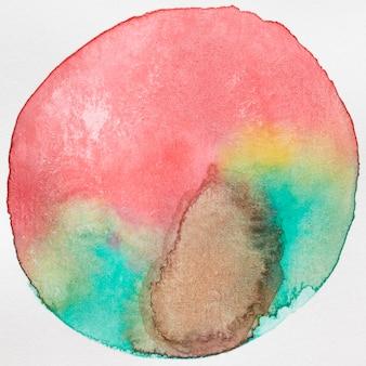 Warme und kalte farben abgerundete form textur auf leinwand
